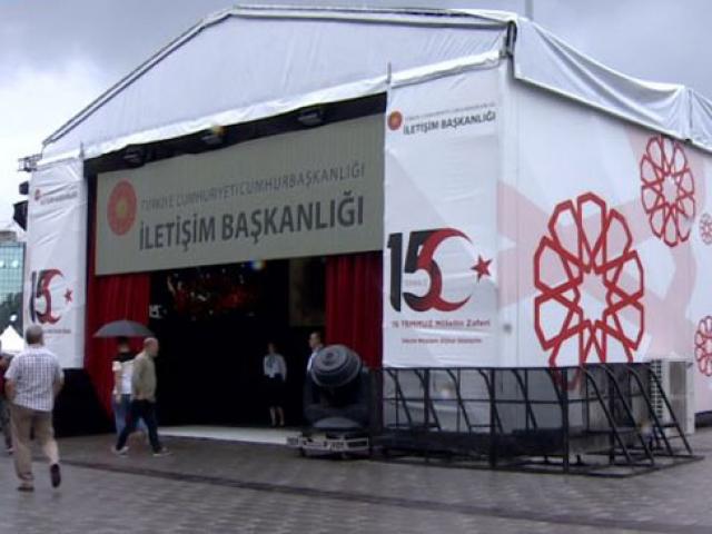 Taksim Meydanına 15 Temmuzu anlatan dijital gösterim merkezi