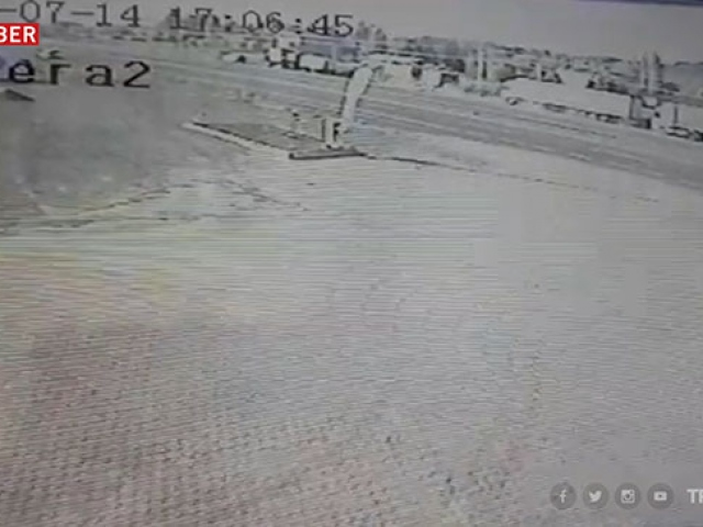 Sivasta bir kişinin hayatını kaybettiği kaza güvenlik kamerasında