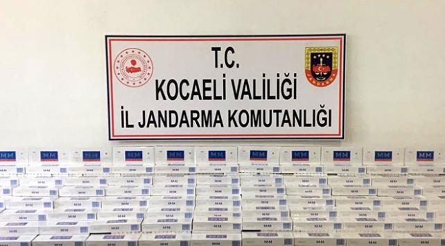 Kocaelide 4 bin 400 paket kaçak sigara ele geçirildi