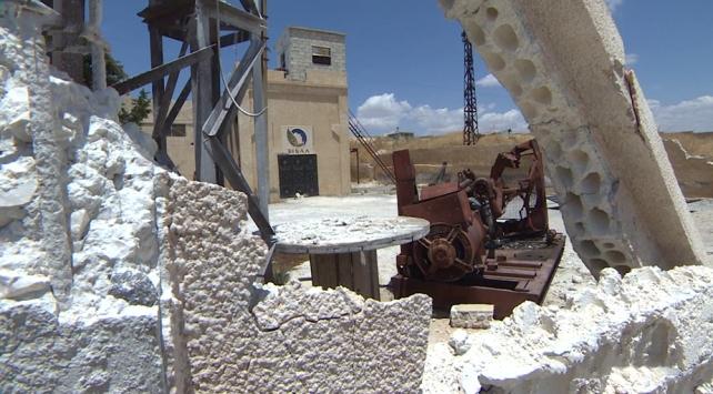 Esed rejiminin vurduğu su kuyuları ve fırını TRT Haber görüntüledi