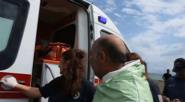 Aracın içi ıslanır diye ambulansa binmek istemedi
