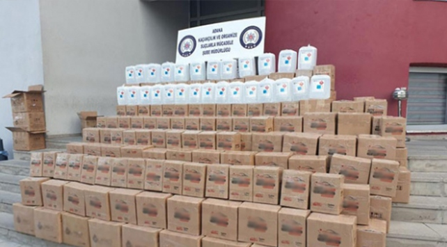 Adanada 2 bin 395 litre etil alkol ele geçirildi
