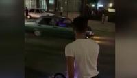 Drift yapan sürücü tehlike saçtı