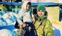 Minik Ayaz ile Astsubay Karaman aynı fotoğraf karesinde