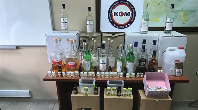 Mersinde sahte içki operasyonu: 102 şişe etil alkol ele geçirildi