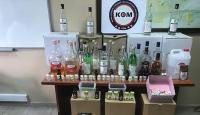 Mersin'de sahte içki operasyonu: 102 şişe etil alkol ele geçirildi