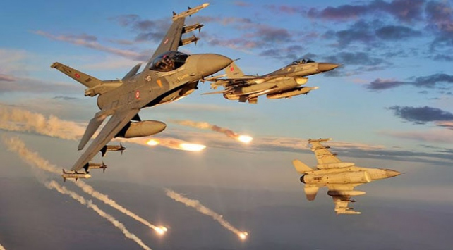 Irakın kuzeyindeki terör hedefleri vuruldu