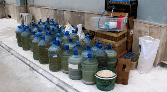 Tokat'ta bin 400 litre sahte içki ele geçirildi
