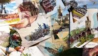 Avrupa manzaraları onun renkli eskizlerinde