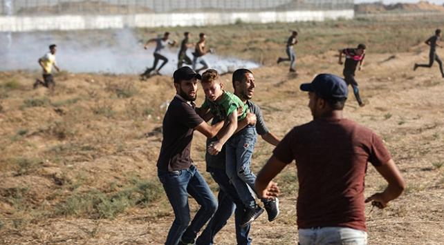 İsrail güçleri 110 Filistinliyi yaraladı