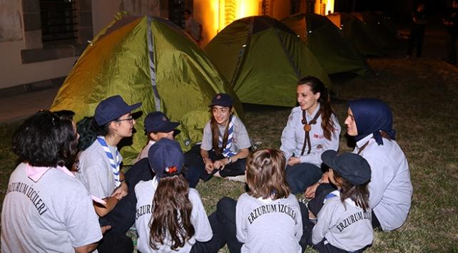 İzciler Milli Mücadele'nin 100. yılı dolayısıyla kampa girdi