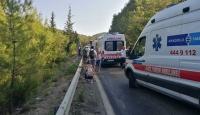 Antalya'da tur otobüsü kaza yaptı