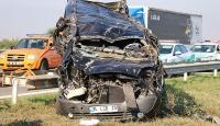 TEM otoyolunda kaza: 1 ölü, 10 yaralı