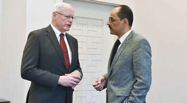 Cumhurbaşkanlığı Sözcüsü Kalın ile Jeffrey görüştü