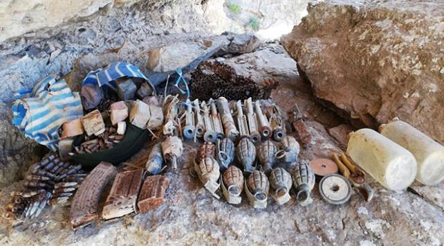 Şırnakta PKKlı teröristlere ait mühimmat bulundu