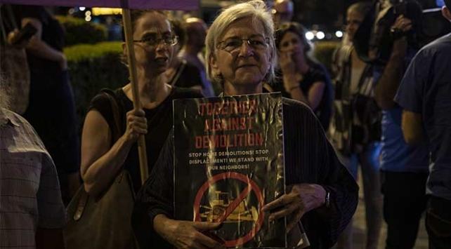 Filistinli ve İsrailli aktivistler İsrailin yıkım politikasını protesto etti