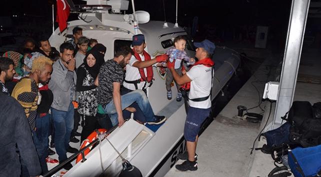 İzmirde 77 göçmen yakalandı