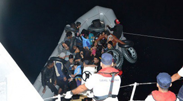 Balıkesirde 32 düzensiz göçmen yakalandı