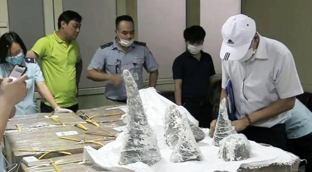 Vietnamda 125 kilo gergedan boynuzu ele geçirildi