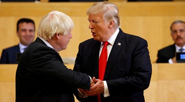 Trump ile Johnson, ABD-İngiltere ilişkilerini görüştü