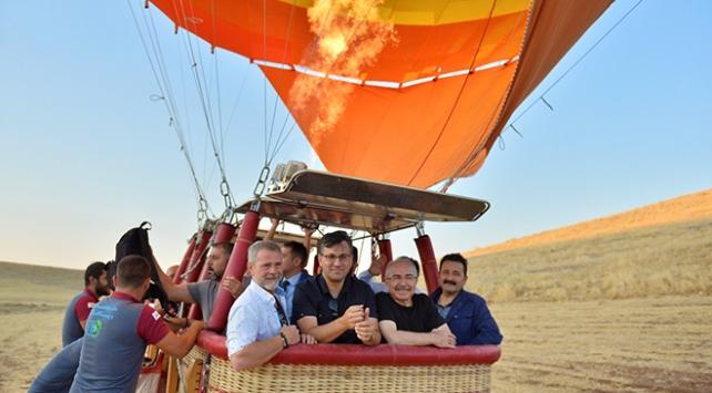 Mardinde ilk sıcak hava balonu havalandı