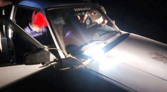 Gece avı yapan şahısların otomobiline el konuldu