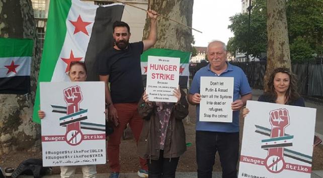 Londrada İdlib için açlık grevi