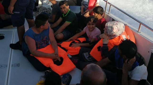 Muğla'da denizde mahsur kalan 22 düzensiz göçmen kurtarıldı