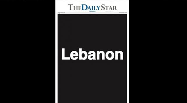 """Lübnandaki """"The Daily Star"""" gazetesi boş sayfalarla çıktı"""