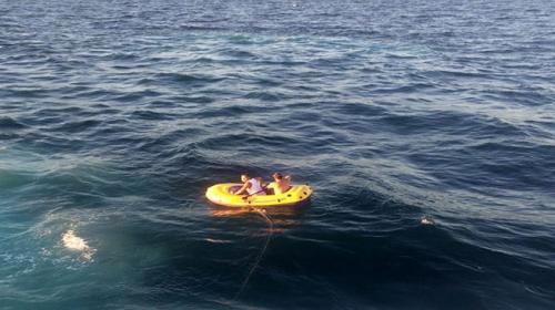 Şişme botla denizde 5 saat mahsur kalan 2 kişi kurtarıldı