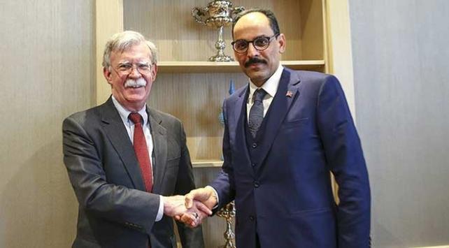 Cumhurbaşkanlığı Sözcüsü Kalın ile Bolton güvenli bölgeyi görüştü