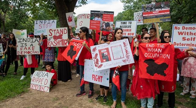 Beyaz Saray önünde Keşmir protestosu