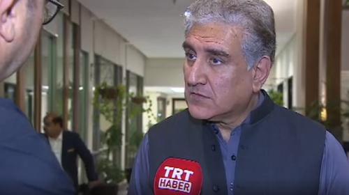 Pakistan Dışişleri Bakanı Şah Mahmud Kureyşi TRT Haber'e konuştu