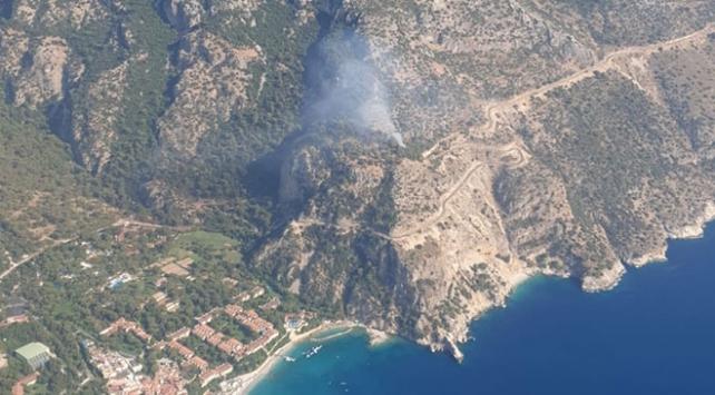 Fethiyede orman yangını: Paraşüt uçuşları durduruldu