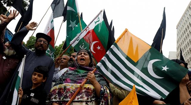 Azad Keşmirde Hindistan Bağımsızlık Günü protestosu