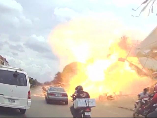Kamboçya'da 2 tonluk LPG tankı patladı: 13 yaralı