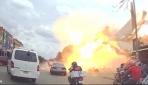 Kamboçyada 2 tonluk LPG tankı patladı: 13 yaralı