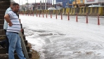 Kocaelide yağmur yağdı, yol köpürdü