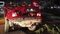 Uşak'ta trafik kazası: 2 ölü, 1 yaralı