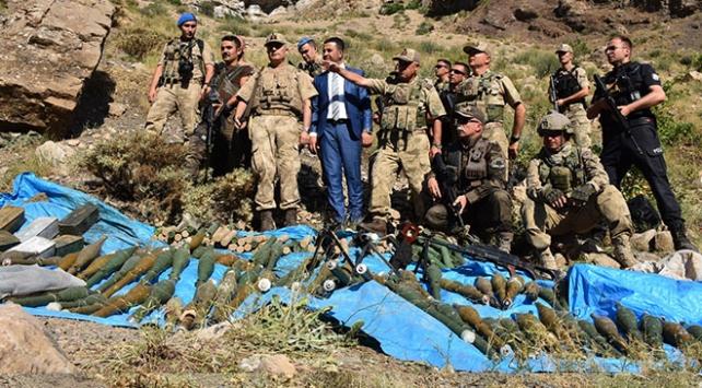 Kıran Operasyonunda PKKya ait silah ve mühimmat deposu bulundu