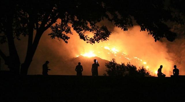 Milastaki orman yangınını söndürme çalışmaları devam ediyor