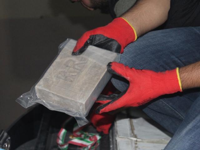 Gürbulak'ta yaklaşık 234 kilogram uyuşturucu ele geçirildi