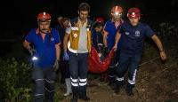 Ankara'da uçurumdan yuvarlanan engelli kurtarıldı
