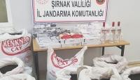 Şırnak'ta iki ton kaçak çay ele geçirildi