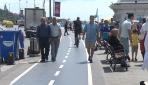 Bisiklet sürücüleri kendilerine ayrılan yolun işgalinden şikayetçi