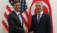 Bakan Akar ile ABD'li mevkidaşı Güvenli Bölge'yi görüştü