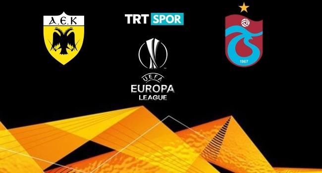 Trabzonsporun AEK randevusu TRT SPORda