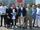 İşten çıkarılan İBB çalışanları belediye binası önünde açıklama yaptı