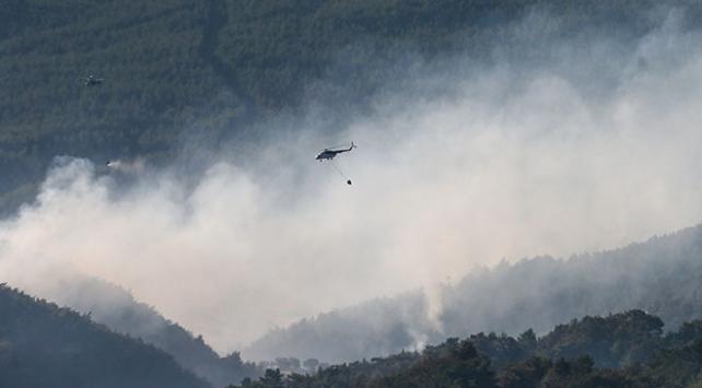 İzmirde 53 saatte kontrol altına alınan yangına 7 bin 500 ton su atıldı