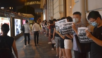 "Hong Kong'daki protestocular ""insan zinciri"" oluşturdu"